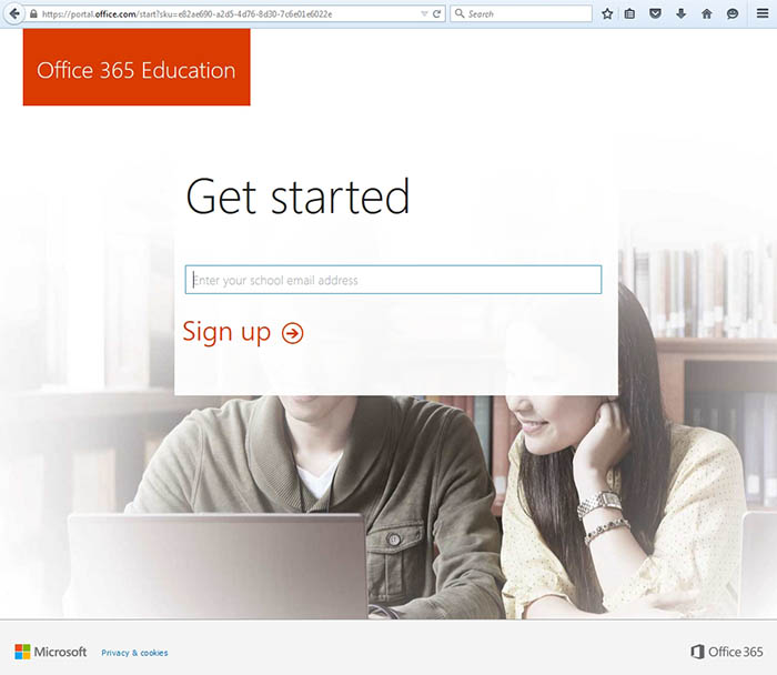 Office 365 Education Web Page