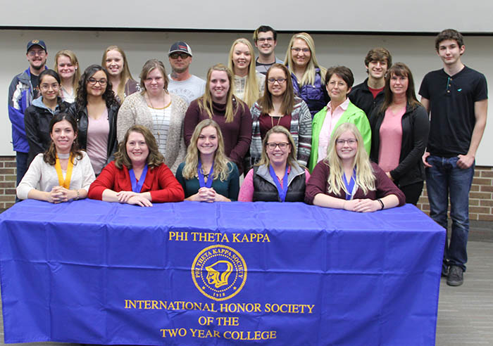 Inductees and officers at PTK Induction
