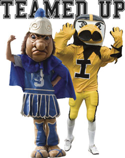 Sparty and Herky